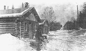 The log cabin where Boyle spent his childhood